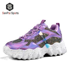 2020 Las mujeres de la marca de moda Dama Shinny Sneakers populares Shoe