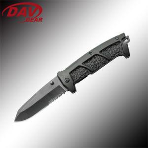Serie de tácticas de 4.5 pulgadas Cuchillo táctico cerrado con alta calidad 420 Hoja de acero inoxidable y mango de aluminio para la supervivencia y lucha contra la legítima defensa
