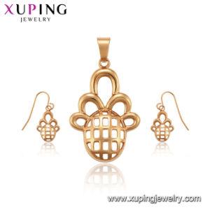 Imitação 18K cor de ouro 2 pedaço Fashion Design simples entorte jóias para meninas