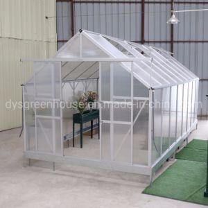 De policarbonato resistente al agua de efecto invernadero de jardín, parasol de aluminio con la Casa Verde (RDGS0812-6mm)