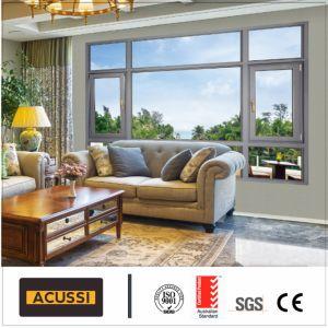 Grano di legno della stoffa per tendine della finestra di alluminio del Windbreak per il balcone con lo standard australiano