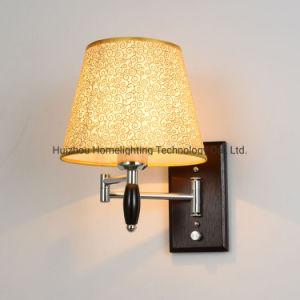 Jlw-14932 Hotel Home Habitaciones Brazo Ajustable de cabecera de la luz de pared de madera