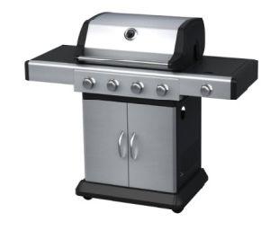 Faites en acier inoxydable 4 brûleurs barbecue à gaz avec brûleur latéral, ce approuvé