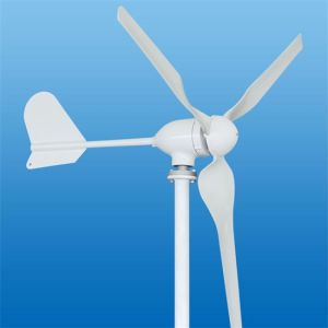 Montado en el techo de la turbina de viento de 100W para uso doméstico, fuera de la red, pequeño de 24V