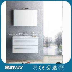 2017 Hot Venda Europa Style banho MDF armário com espelho de cortesia Sw-1307