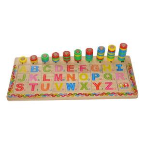 Alfabeto de madeira e o número brinquedo para educação