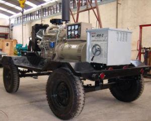 50A-500A Diesel Welding Machine Generator met Weather of Sound Proof en Two of Four Wheels Trailer