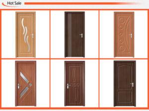 バルコニー(SC-P079)のための両開きドアの葉ガラスPVC MDFのドア