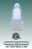 ULの承認(LD-34)のLED夜ライト