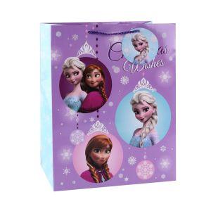 Cartoon Elsa et Anna Papier de cadeau sac, sac de papier d'enfants,