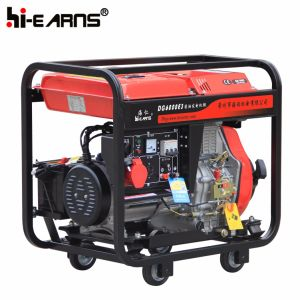 Luftgekühlter geöffneter Rahmen-Typ Dieselgenerator dreiphasig (DG6000E3)