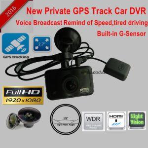 Neuer Gedankenstrich-Nocken des Auto-2.7inch mit GPS, der Weg-Auto-Gedankenstrich-Kamera durch Play-back Googlemap, GPS-Logger-Auto-Digital-Videogerät DVR-2709 aufspürt