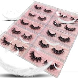 Venda por grosso de visões Natural Cílios amostra grátis de algodão preto rótulo privado Eyelash Amarre