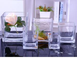 Хрустальное стекло Cube вазу для проведения свадеб оформление