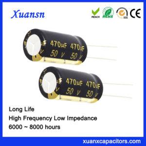 Популярные 50V 470 ОФ конденсатор с длительным сроком службы алюминиевые электролитические конденсаторы