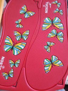 Palmilha EVA cor duplo exemplar para massagem Flipflop sandálias e chinelos