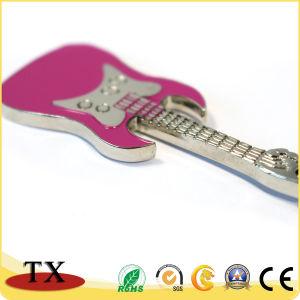 Aleación de zinc metal precioso Llavero forma de guitarra y Keychain