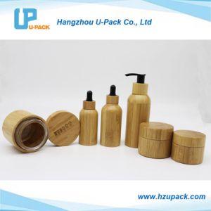 木の装飾的な瓶のタケシャンプーのびんの包装