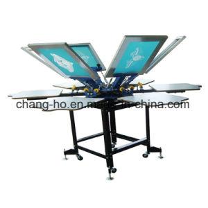 6 Farben-manuelle Textilbildschirm-Drucken-Maschine