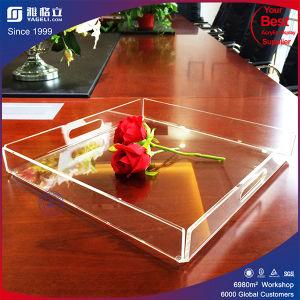 Cassetto acrilico trasparente per alimento e vino rosso