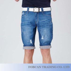 Il modo moderno ha lavato gli Shorts di modello diritti Dadb10037 del denim dell'uomo dei jeans degli uomini di Shorts di formato 28-36 di disegno casuale dei Turn-UPS