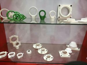 Weiße Plastik/Chrome-Stahllagergehäuse-Edelstahl-Einlage-Peilung Ssucp