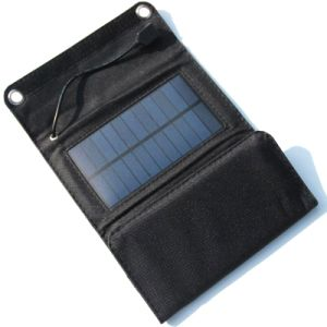 5V 5W de silicio Polystalline portátil plegable Panel Cargador solar