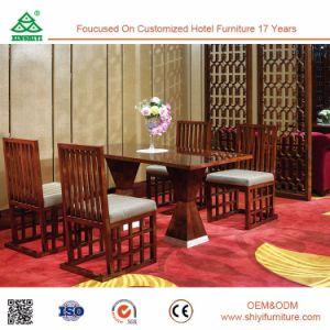 レストラン/Htelのダイニングテーブルおよび椅子の中国の製造業者のための骨董品によって使用される食堂の家具