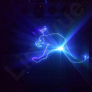 6W DMX DJはディスコフルカラーRGBレーザーを上演する