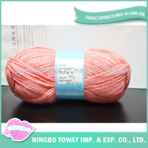 100% algodão Egípcio Mercerizado Tecelagem de fio de rosca de croché Tricotar na bola