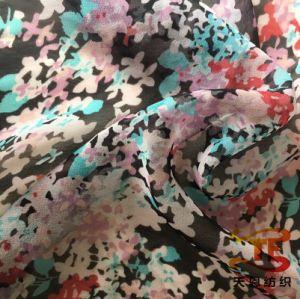 75D Água Chiffon Tecido de poliéster de Impressão do Rolete de vestido de mulher