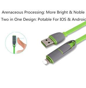2 в 1 Кабель для Ios/Android системы кабель USB кабель Mini-USB