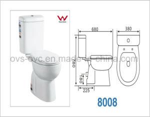 Sanitarios de porcelana de dos piezas de cerámica de retrete wc
