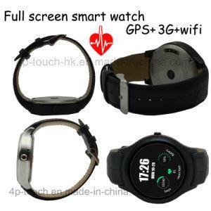 3G Telefoon van het Horloge van WiFi de Slimme met het Tarief van het Hart & Mtk6572 X1