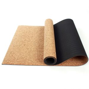 El corcho de goma natural ecológica Antideslizante Mat de Yoga Pilates Yoga Fitness Tapis