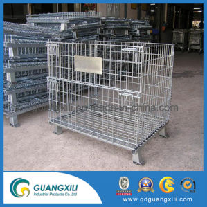 Plegable y apilable Heavy Duty de la jaula de malla de alambre para depósitos