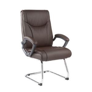 中間背部PUの革カバーオフィスの訪問者の事務員の椅子(FS-8703C)