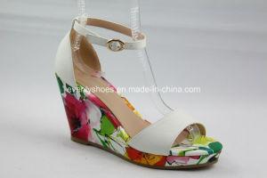 Grace Design Fashion Lady sandale de filtre en coin avec sangle de cheville