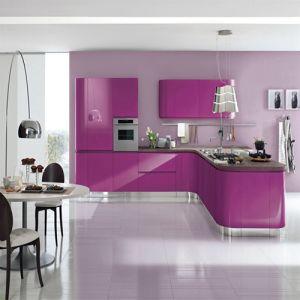 2018現代自由なデザインラッカー台所家具のキャビネットをカスタマイズした