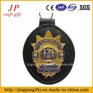 Supporto di distintivo del metallo di alta qualità con la modifica di cuoio