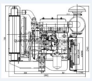 力値13 HPのディーゼル機関、発電機のディーゼル燃料エンジンQC380d