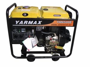 Yarmax 5.5va 6.5kVA는 유형 디젤 엔진 발전기 세트 디젤 엔진 Genset를 연다