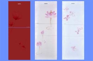 Alta qualidade personalizada Serigrafia o vidro temperado para a porta do frigorífico