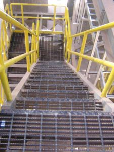 Pasarela de rejilla de acero galvanizado para piso de la plataforma y la pasarela