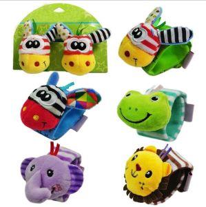 Peluche Hochet Bébé doux Bracelet Bracelet main Caterpillar Bell Affectation de jouet pour enfants chez les nourrissons