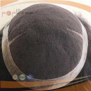 黒い人間の毛髪の多上塗を施してあるボーダーメンズシステムを離れて、毛の部分のToupee