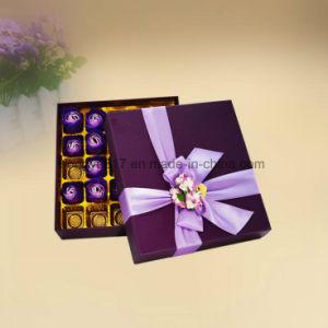 Impresión en color de la plaza fina caja de regalo para el embalaje de chocolate