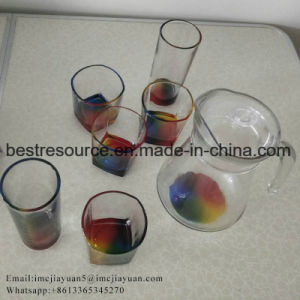 7pcs Raibnbow bocal en verre de vin de couleur verseuse Whisky Tumbler Set