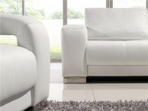 Couro Branco Hot-Selling Sala 1+2+3 Sofá seccional (HC6017)