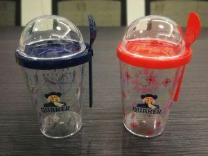 Regalo promocional y Ensalada de yogur bocadillos de plástico Mug